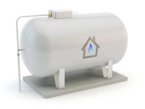 gas-tank, weißer hintergrund - benzintank stock-fotos und bilder