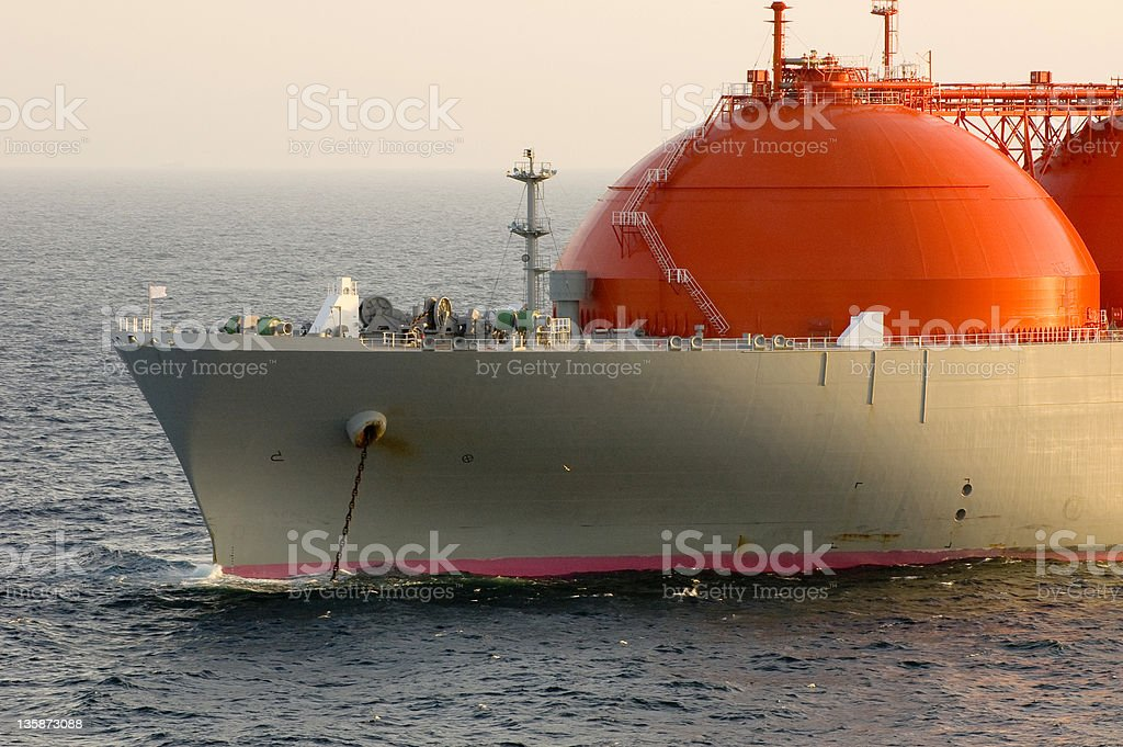Gas tanker LNG stock photo