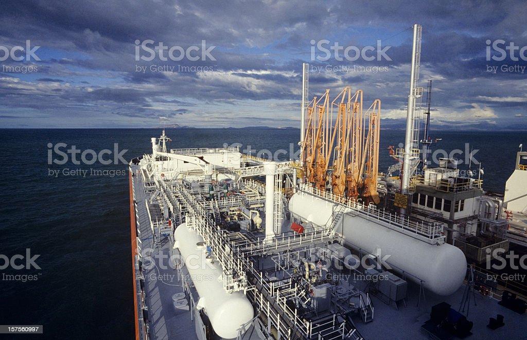 gas tanker transport stock photo