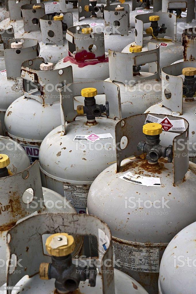 Gas tanks stock photo