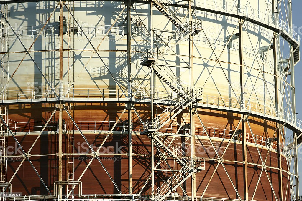 gas tower royalty-free stock photo
