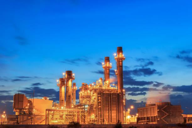 gasturbinen-kraftwerk - generator text stock-fotos und bilder