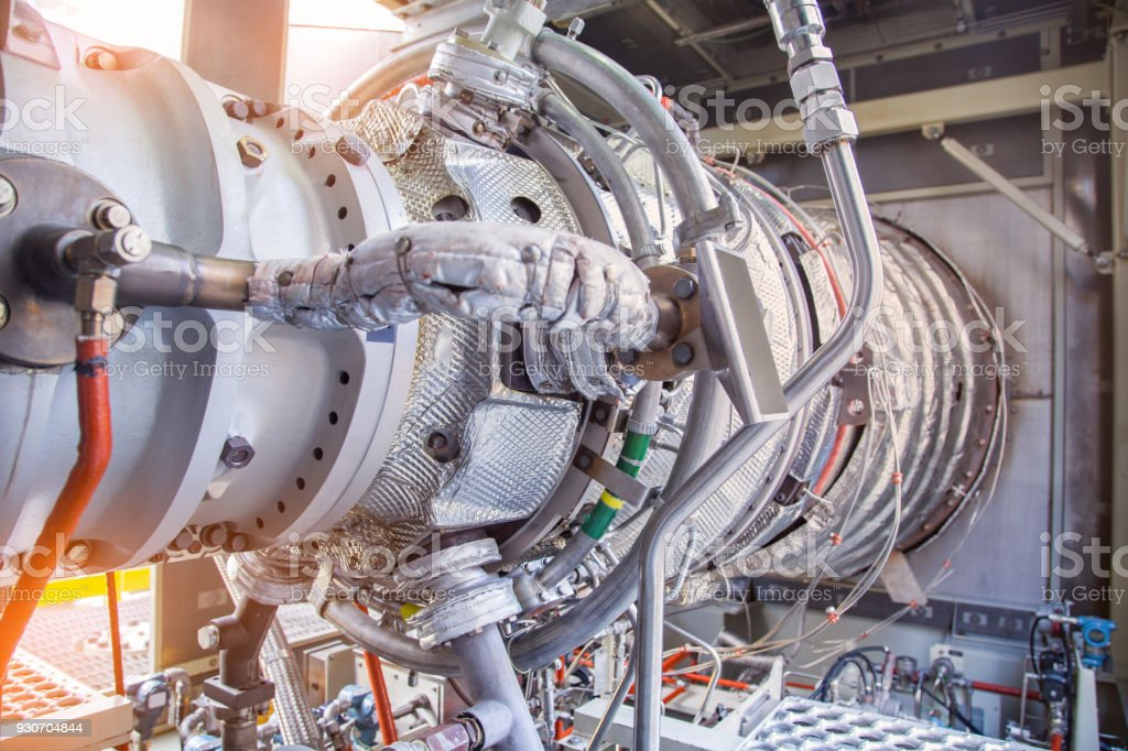Gas Turbine Engine Is The Prime Mover Of Gas Compressor Centrifugal