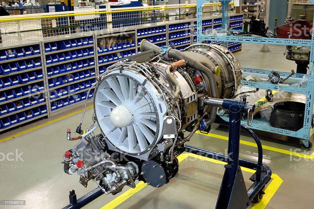 Gas turbine (jet) Motor auf bei dem überprüft – Foto
