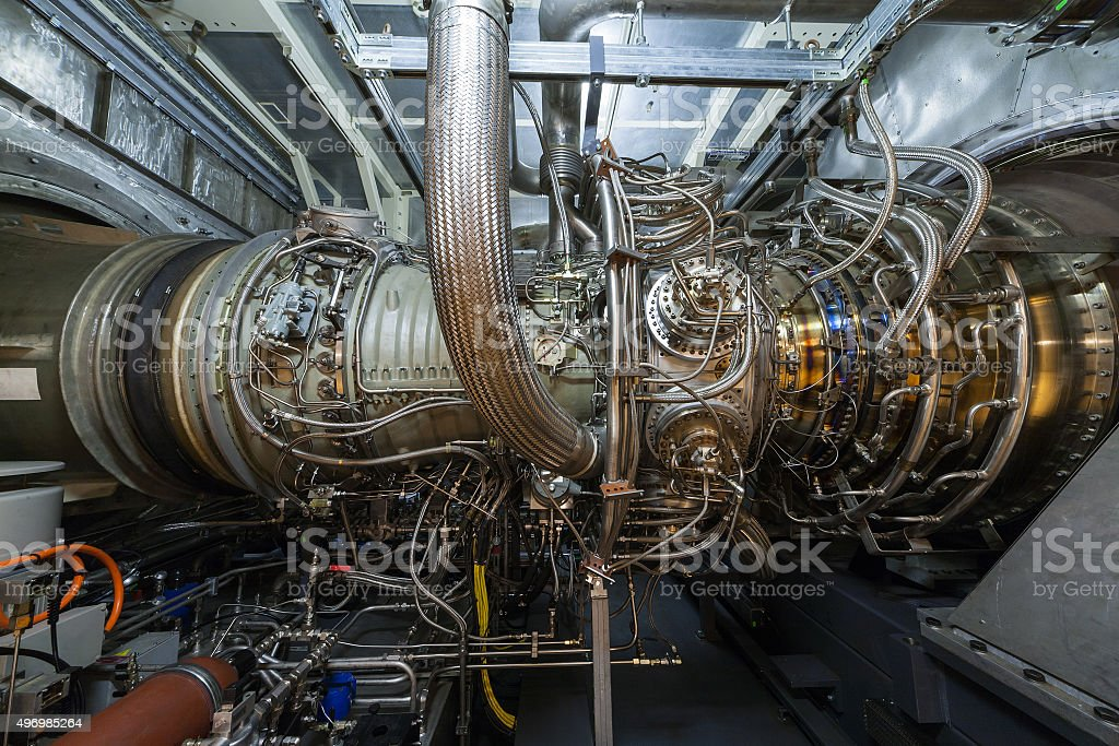 Gas turbine engine stock photo