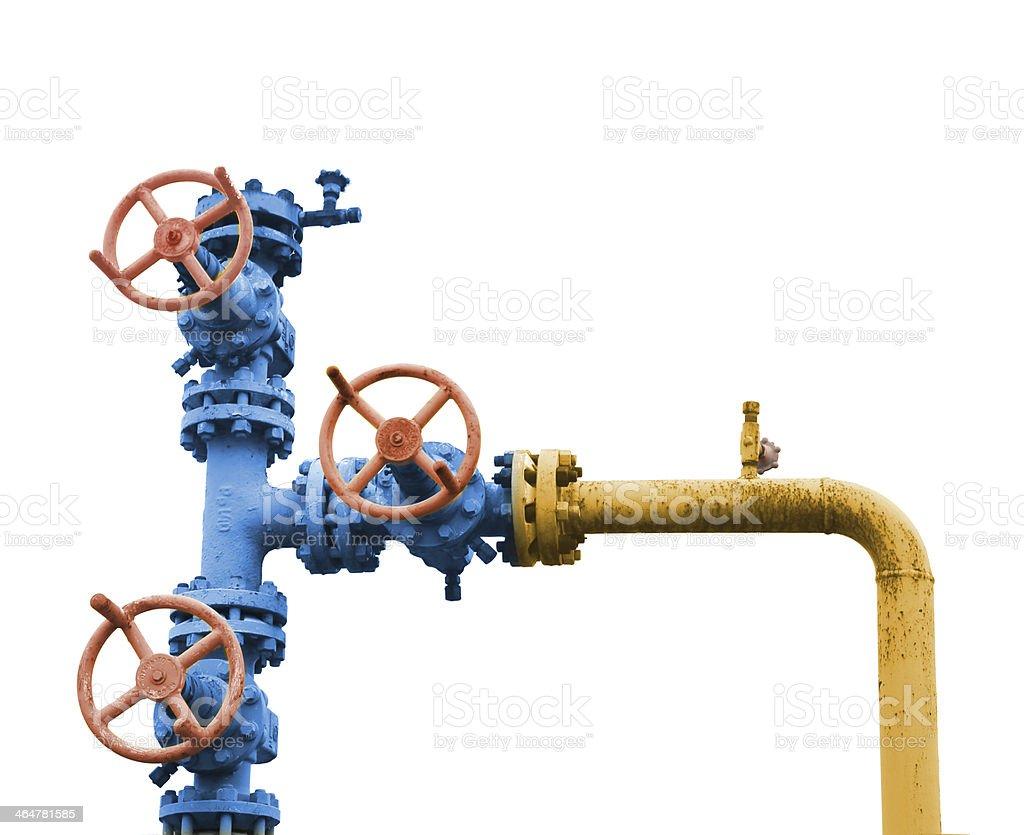 Gas valve tree. stock photo