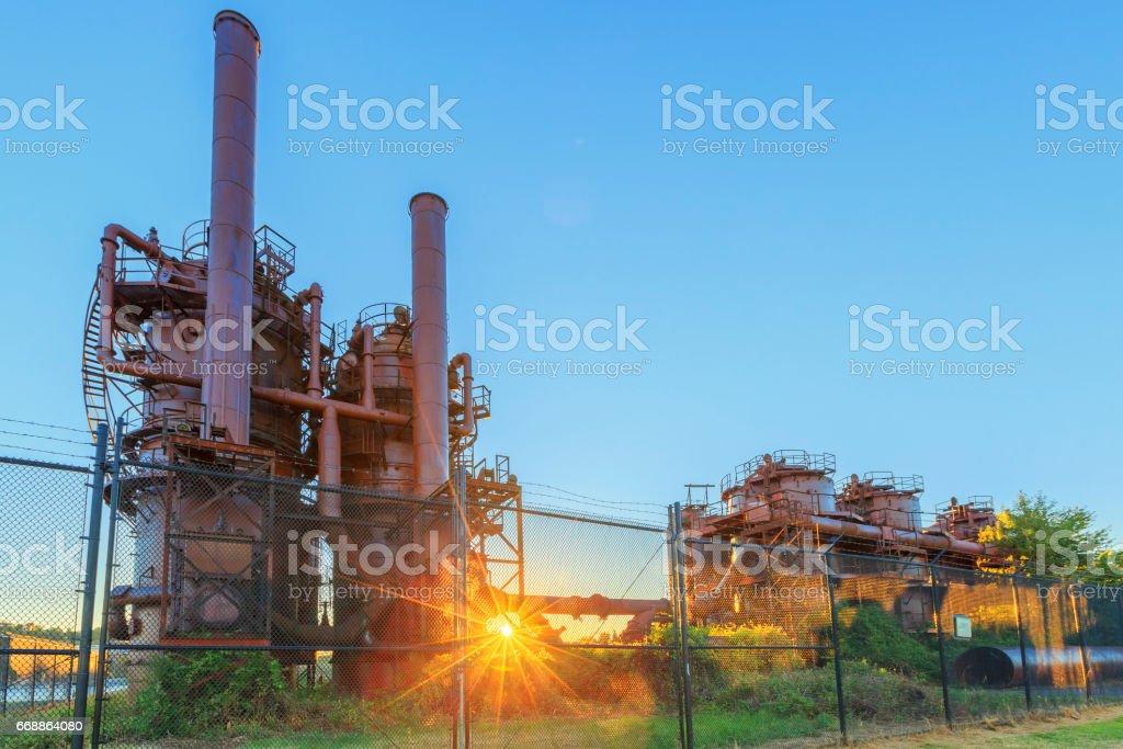 Gas Works Park in Seattle, Washington stock photo