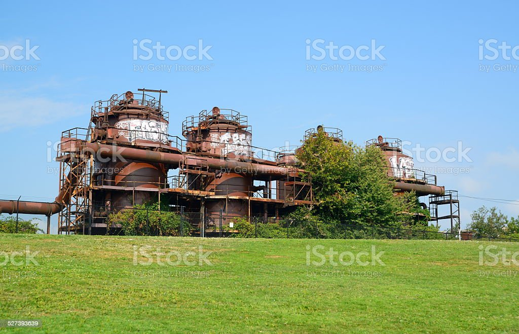Gas Works Park stock photo