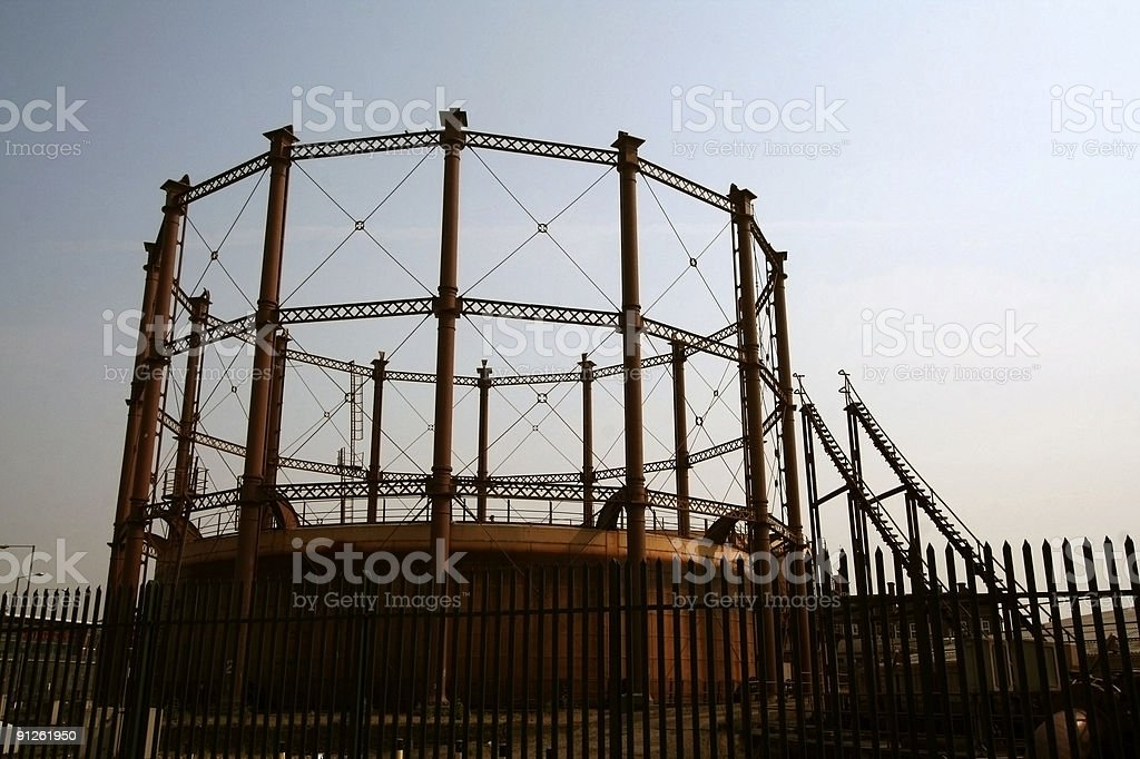 Gas Works royalty-free stock photo