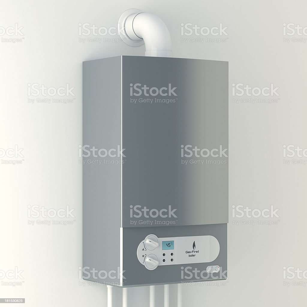Gas-fired boiler stock photo