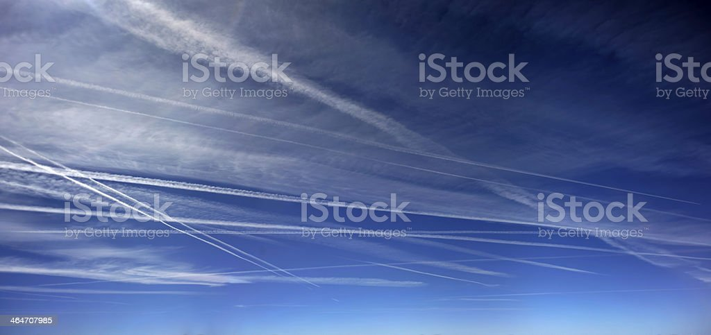 Gashed sky stock photo