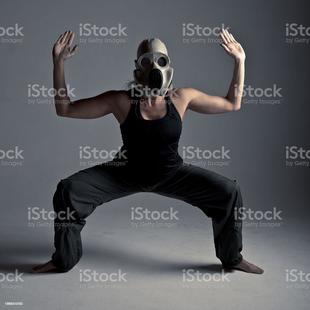 Gask Mask Poses stock photo