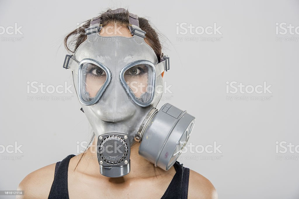 Gasmask model stock photo