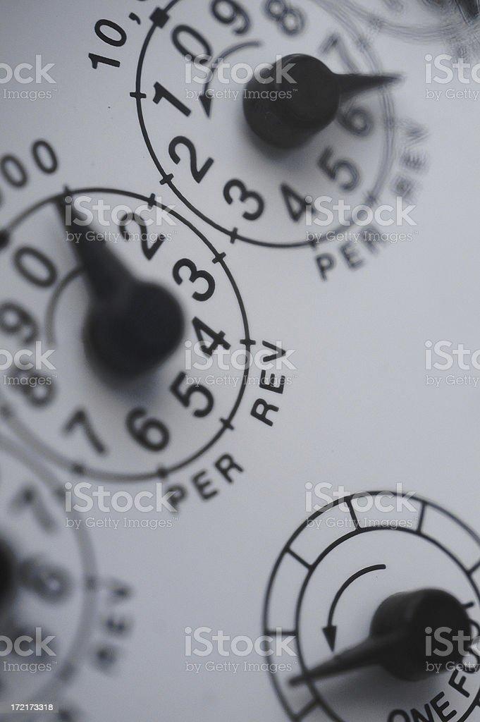 gasmeter royalty-free stock photo