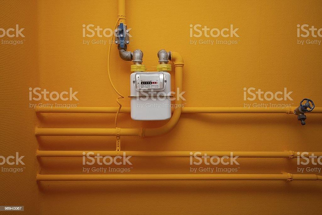 Gas-meter royalty-free stock photo