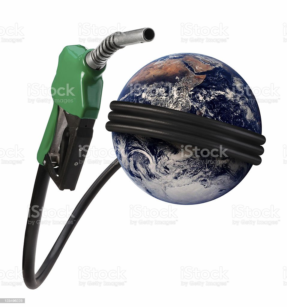 gasoline and the world economy  Color Image Stock Photo