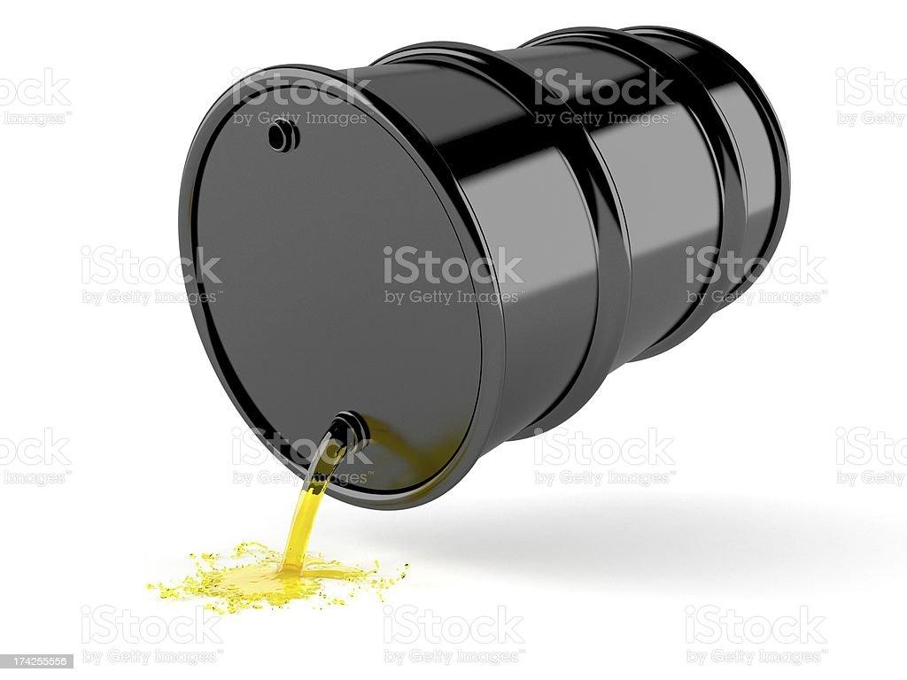 Gasoline barrel royalty-free stock photo