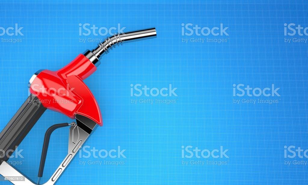 Gasoline nozzle royalty-free stock photo