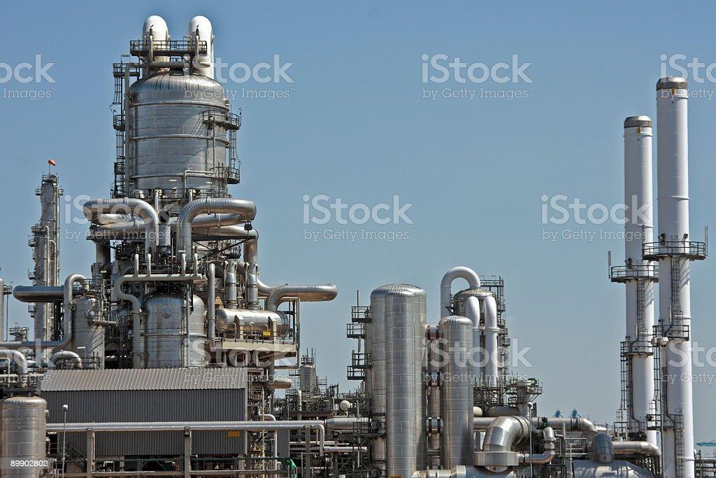 Gasoline plant near Rotterdam the Netherlands royalty-free stock photo