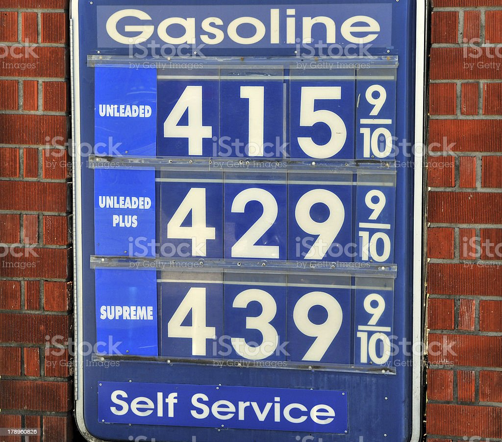 Gasoline Prices royalty-free stock photo