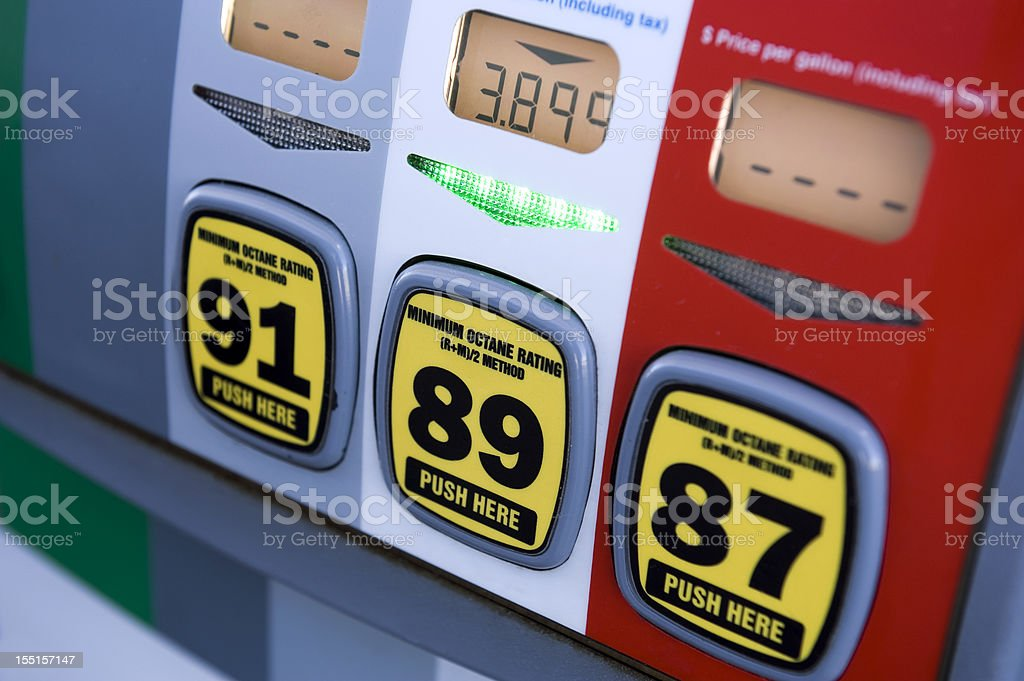 Gasoline pump at gas station royalty-free stock photo