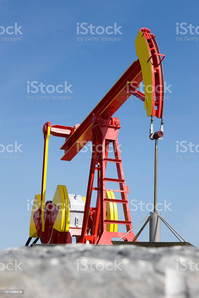 Gasoline pump royalty-free stock photo