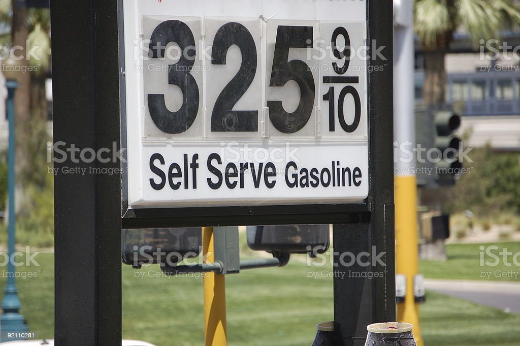 Gasoline Sign royalty-free stock photo