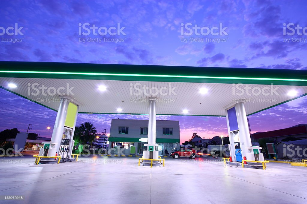 Gasoline Station and Convenience Store royalty-free stock photo