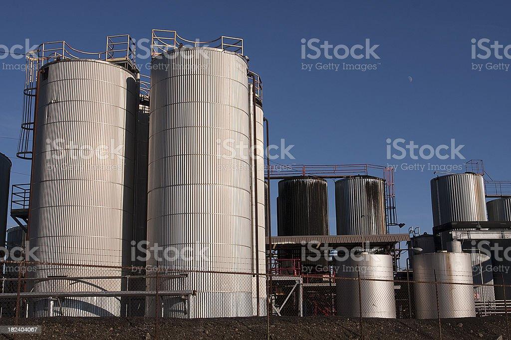 Gasoline storage tanks royalty-free stock photo