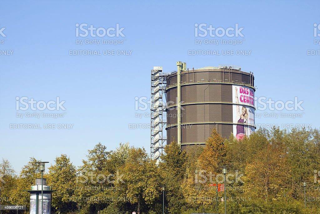 Gasometer in Oberhausen royalty-free stock photo