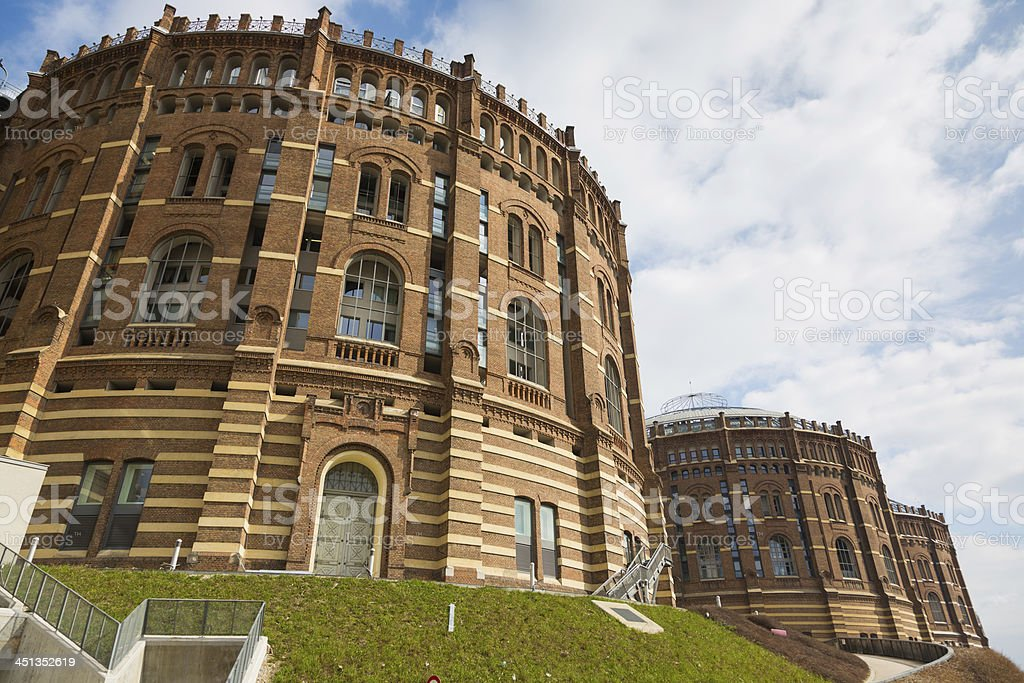 Gasometer in Wien stock photo