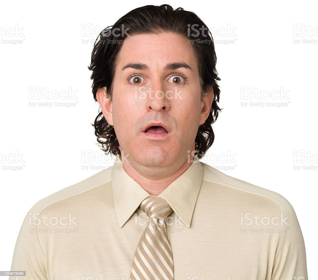 Gasping Man Looking At Camera royalty-free stock photo