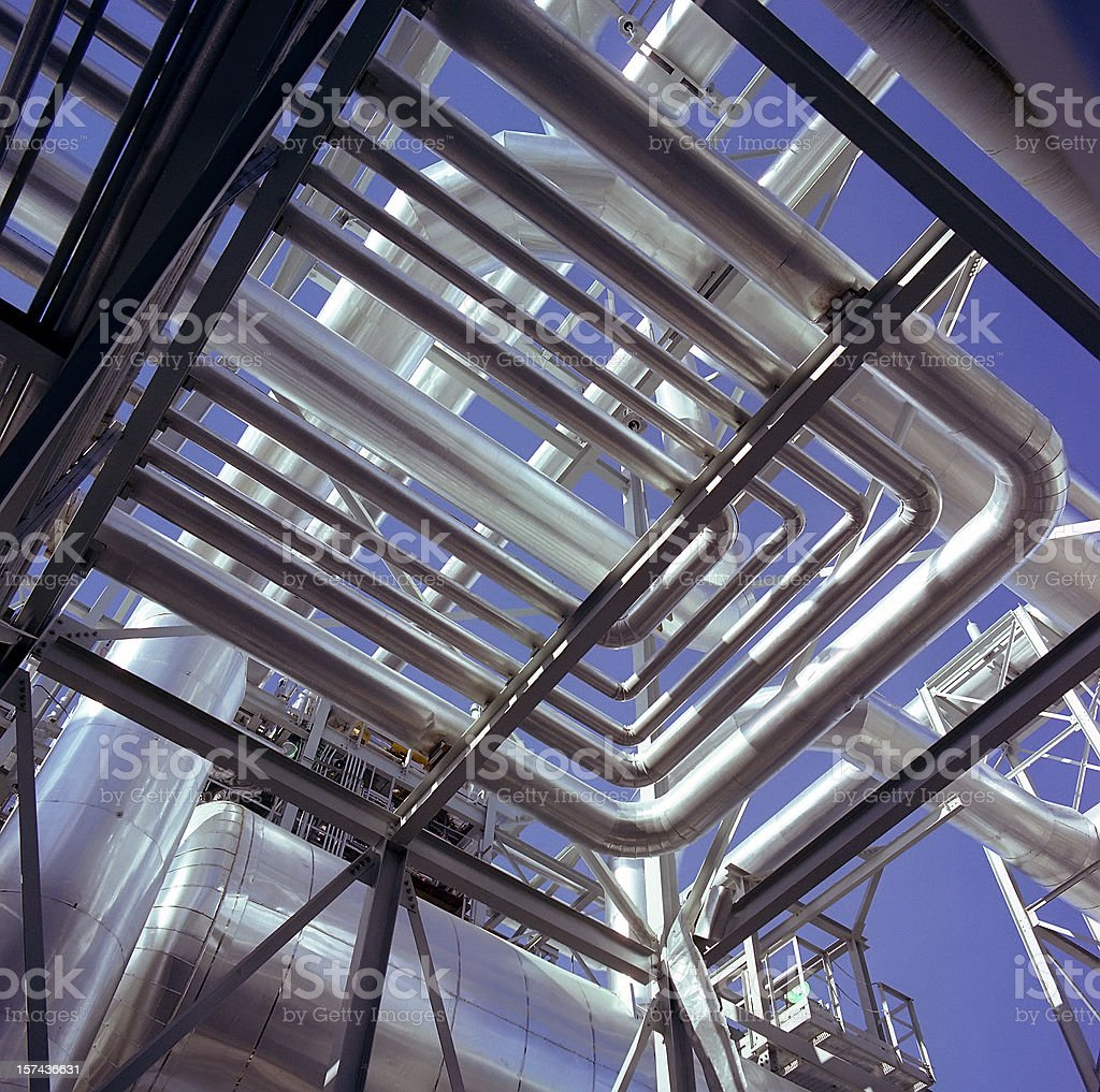 Gasplant Ductwork royalty-free stock photo