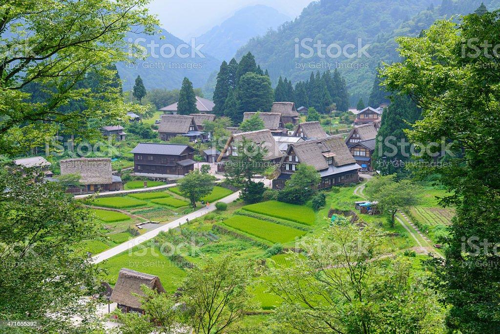Gassho-zukuri village stock photo