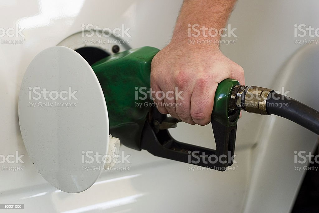 Gassing up (horizontal) royalty-free stock photo
