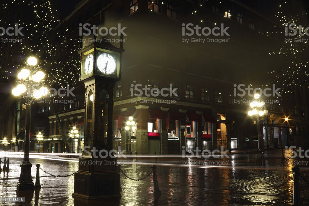 Gastown at Night, Vancouver royalty-free stock photo