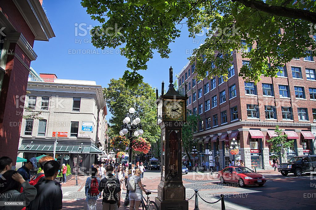 Gastown in summer,Vancouver,Canada stock photo