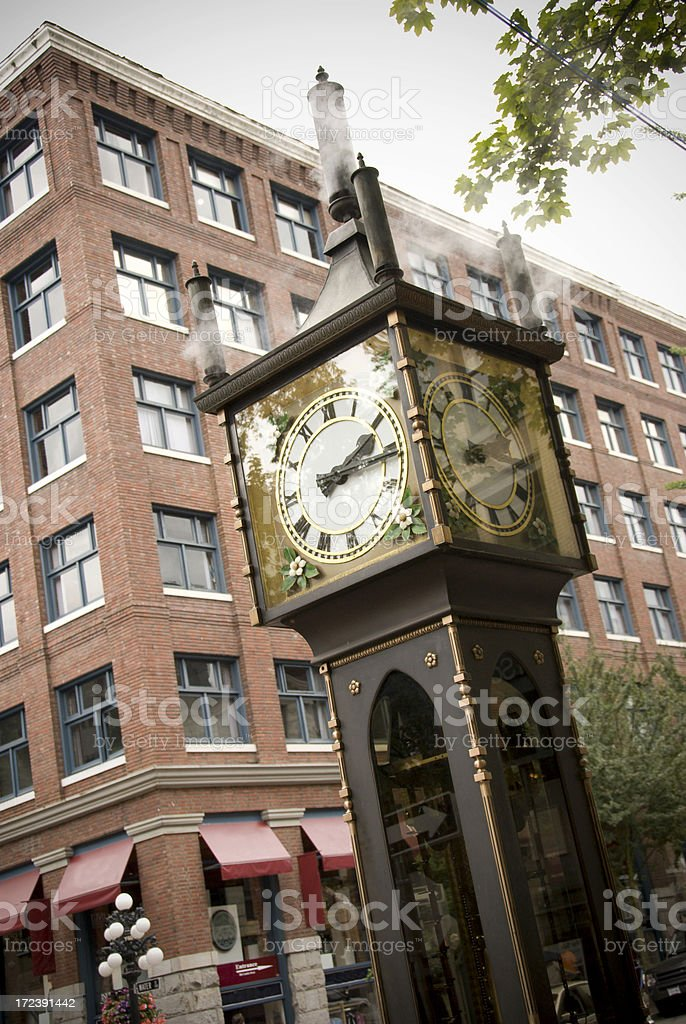 Gastown Steam Clock royalty-free stock photo