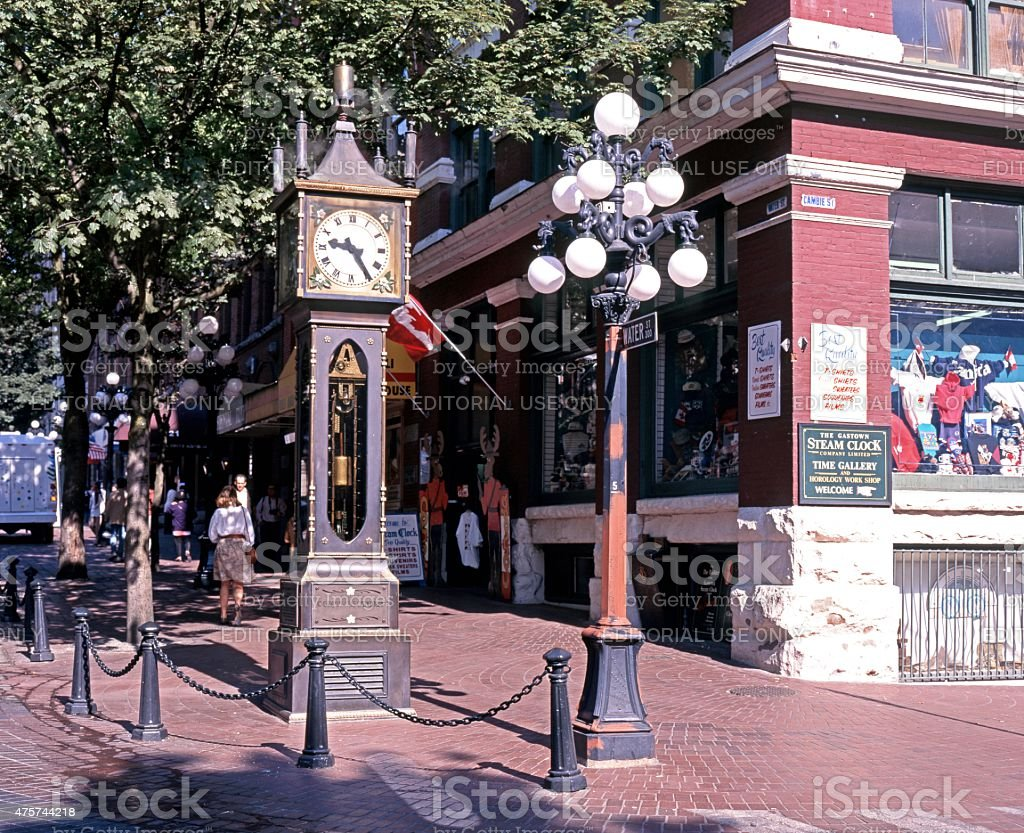 Gastown steam clock, Vancouver. stock photo
