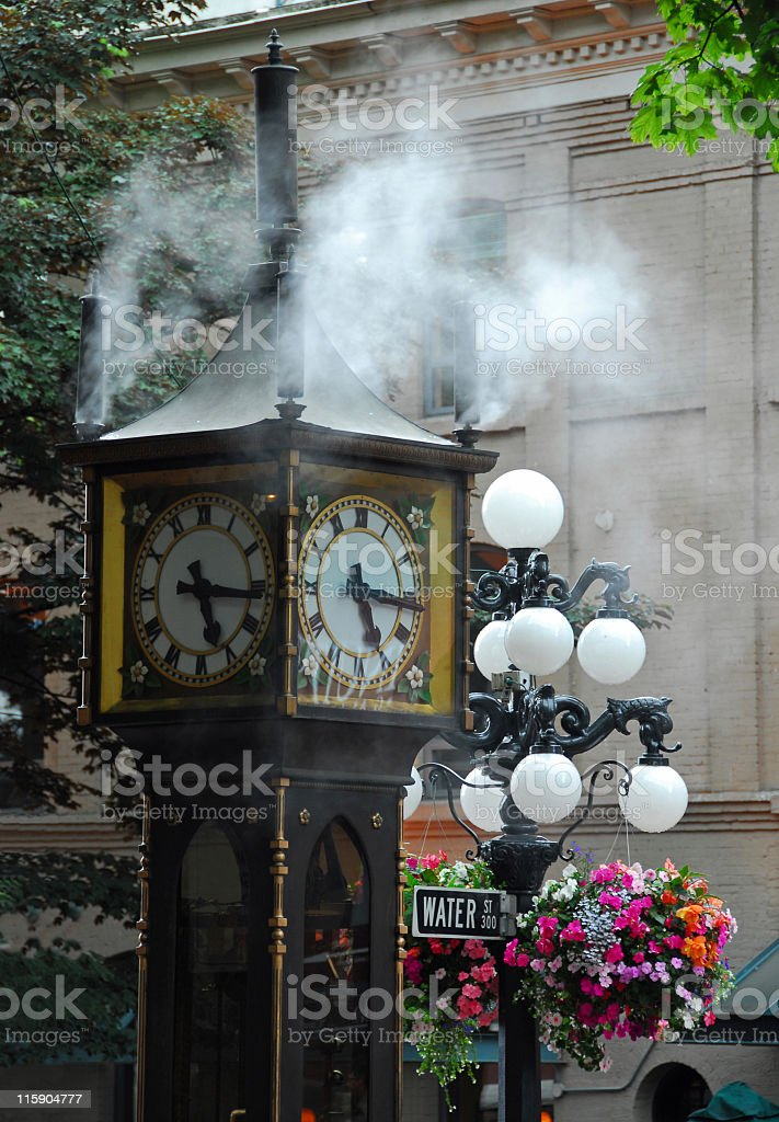 Gastown Steam Clock,Vancouver royalty-free stock photo