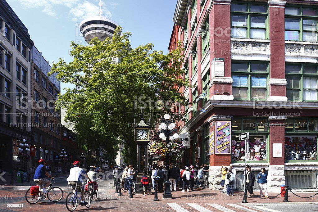 Gastown, the Vancouver City's oldest neighbourhood stock photo