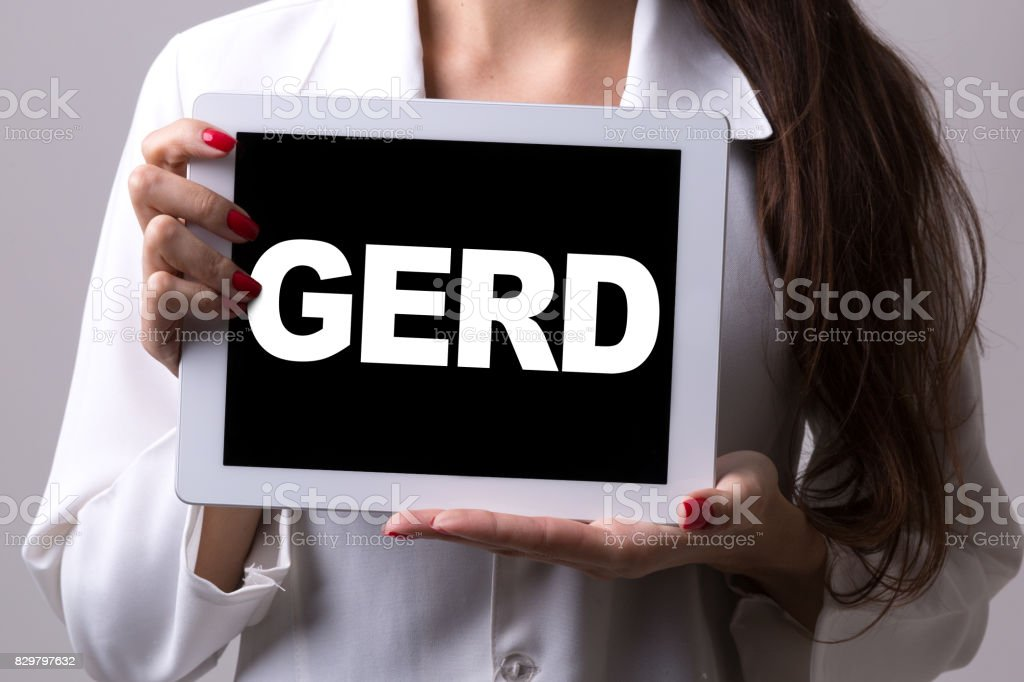 GERD - Gastroesophageal Reflux Disease stock photo