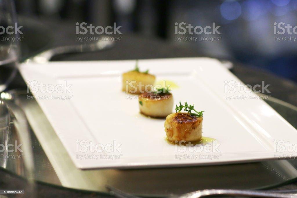 Gastronomic food, gourtmet stock photo