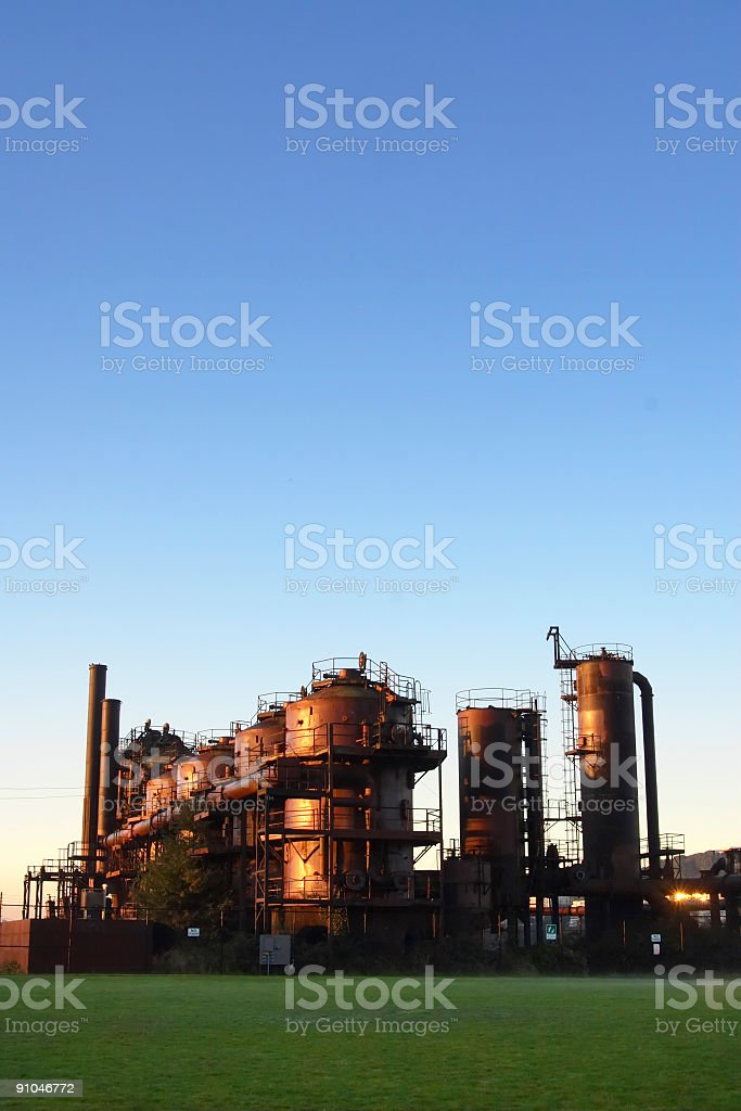 Gasworks Park in Seattle royalty-free stock photo
