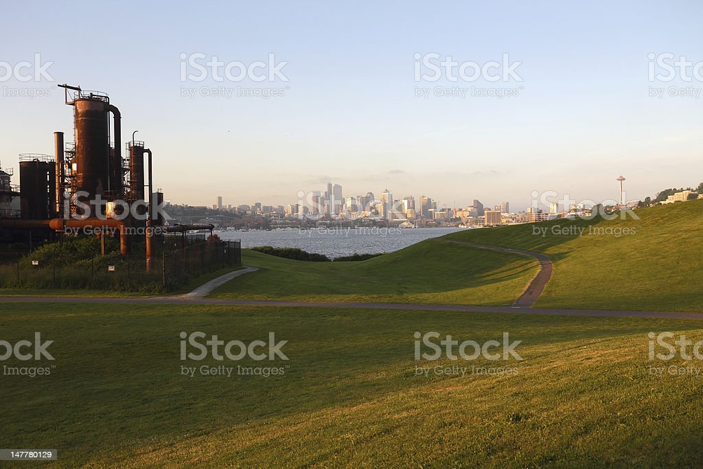 Gasworks Park, Lake Union, Seattle stock photo