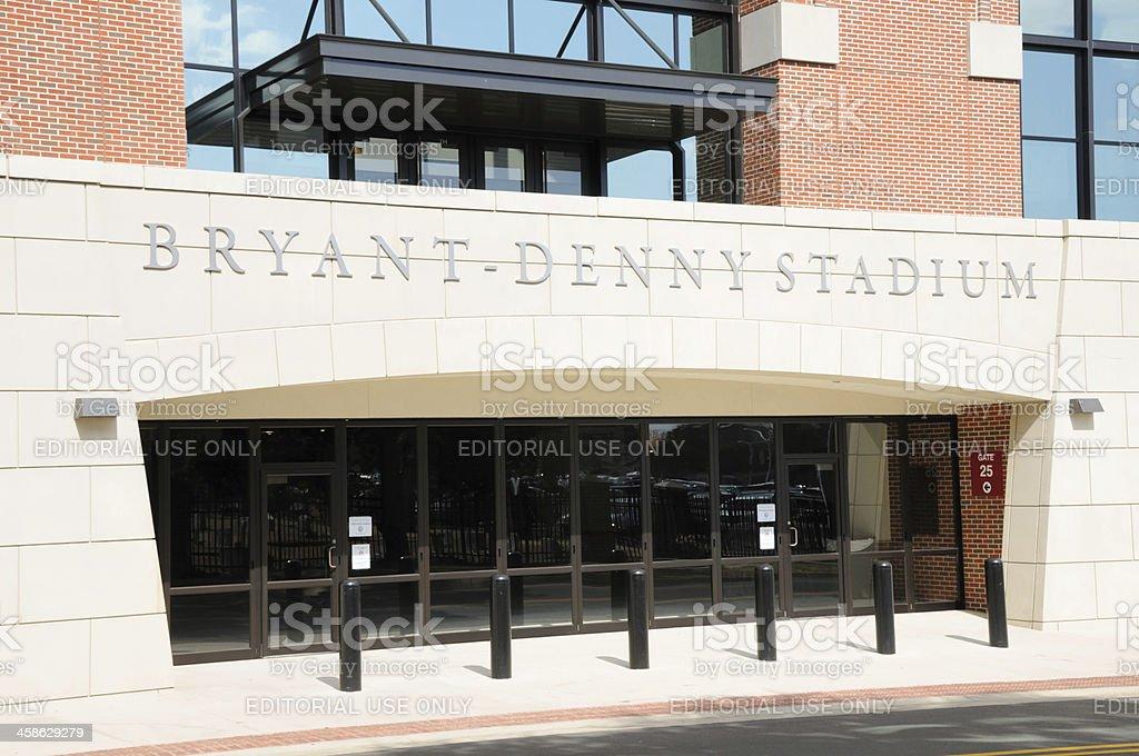 Gate 25 at Bryant Denny Stadium stock photo
