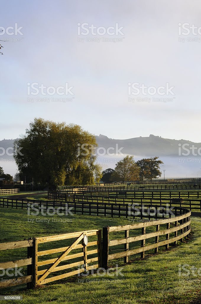 Gate and sunrise royalty-free stock photo