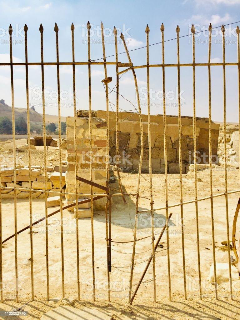Tor bei alten ägyptischen Ruinen – Foto