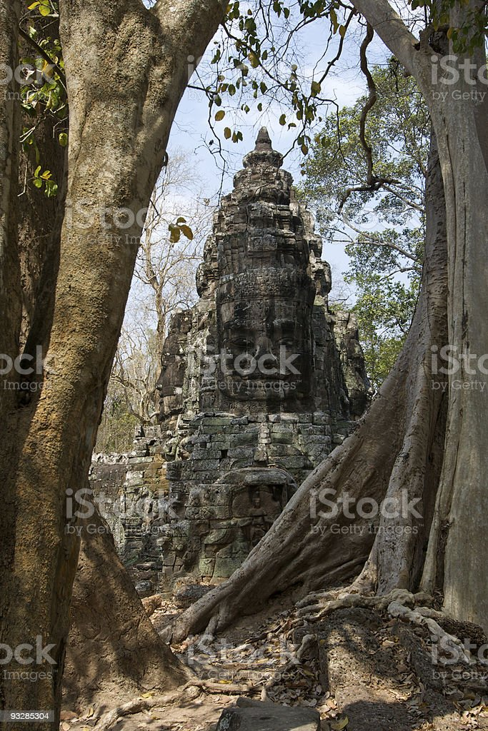 Gate at Angkor Thom stock photo