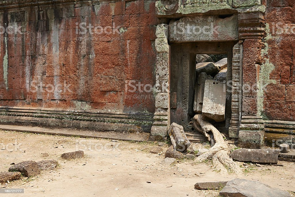 Gate at Ta Prohm Temple royalty-free stock photo